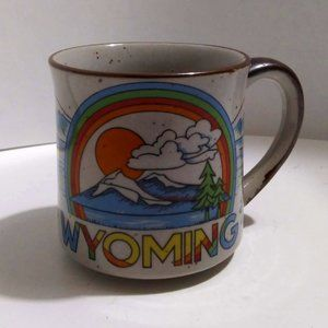 VINTAGE STONEWARE SPECKLED WYOMING MUG